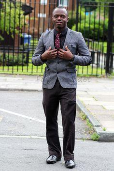 Grey Harris tweed blazer jacket & trousers, #maroontie, #blackshirt, #tweedblazer, #tweedblazer&pants, #greytweedblazer, #harristweedblazer, #blazerjacket