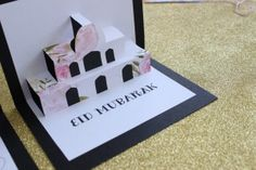 Eid Decorations - Eid Crafts ( Eid Mubarak pop-up mosque card)