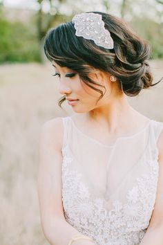 LOVE! A relaxed #updo accompanied by a fabulous hair accessory {Avec L'Amour}