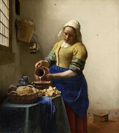 Johannes Vermeer: The milkmaid, 1660