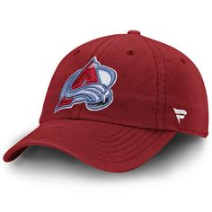 sale retailer b99be 4086a Colorado Avalanche Fundamental Adjustable Hat - Burgundy