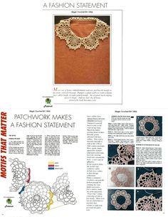 코바늘 케이프 도안 - 너무 많아~ 놀라지 마세용>,,< : 네이버 블로그 Crochet Collar, Crochet Tablecloth, Crochet Accessories, Diy Crochet, Crochet Designs, Crochet Clothes, Crochet Necklace, How To Make, Blog
