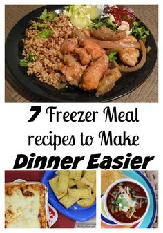 Freezer meals to make dinner easier. Enjoy these recipes that go from the freezer to the table in no time.