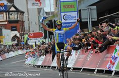 Marc de Maar of UnitedHealthcare-NEILPRYDE taking todays stage 5 at Tour of Britain