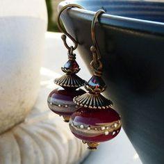 Oriental lampwork earrings