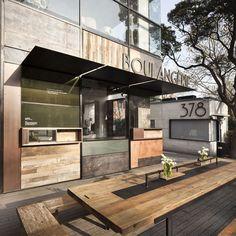 Neri & hu :: farine *texture lust* 사인 cafe design, bar design awards 및 Coffee Shop Design, Cafe Design, Store Design, Cafe Bar, Coffee Shops, Restaurant Design, Restaurant Bar, Exterior Design, Interior And Exterior