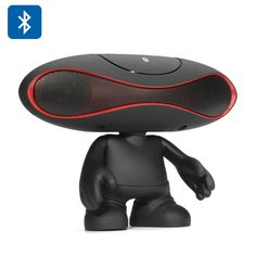 Football Doll Bluetooth Speaker - Bluetooth 2.1 Aux In Micro SD Card FM Radio Hands free (Black)