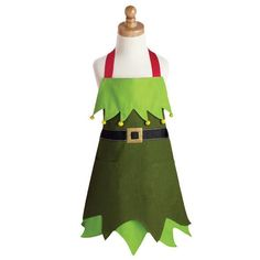 Design Imports Christmas Elf Children's Apron for sale online Christmas Aprons, Noel Christmas, All Things Christmas, Christmas Crafts, Christmas Ideas, Christmas Cookies, Office Christmas, Christmas Sewing, Christmas Costumes