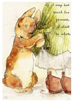 Beatrix Potter watercolor of Peter Rabbit. This is absolutely adorable!Beatrix Potter is a favorite author and Peter Rabbit is one of my favorite characters. Where I learned about chamomile tea!As a young girl i used to be so in LOVE w Beatrix Potter & Pe
