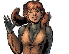 Squirrel Girl and her lovable little sidekick. The Unbeatable Squirrel Girl: How Is She Marvel's Most Powerful Superhero? http://www.visiontimes.com/2015/04/03/the-unbeatable-squirrel-girl-how-is-she-marvels-most-powerful-superhero.html