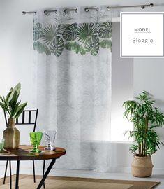 Záclona s motivem listů Stores, Curtains, Prints, Home Decor, Blinds, Decoration Home, Room Decor, Draping, Home Interior Design