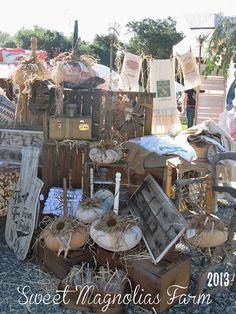 "Sweet Magnolias Farm setup at ""The Vintage Marketplace"" at the Oaks Sept. 2013"