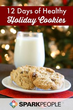 12 Days of Holiday Cookies. Healthier versions of your favorite traditions!  | via @SparkPeople #Christmas #holiday #cookies #healthy