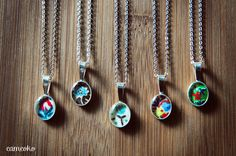 Sterling Silver, Vintage Fabric and Resin by Cameoko Jewelry