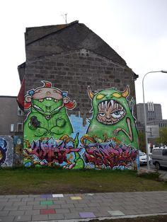 skrímsli -Götulist, Hverfisgata, Reykjavik, Island, Photo: raumstadtion