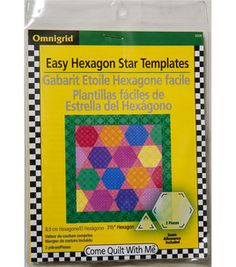 Omnigrid Eye Spy Hexagon Template