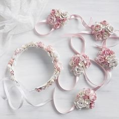 Love this tender flower crown and matching bracelets