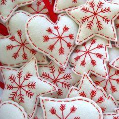 Scandinavian Christmas Felt Hanging Decorations by FantooshbySonia