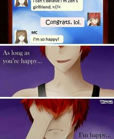 I cry every time he says stuff like this!! He just wants you to be happy, even if it means he can't be DX