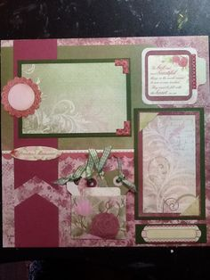 Mother's Day scrapbook page