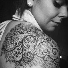 dantel dövmeleri lace tattoos 28