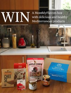 To celebrate the launch of our brand new blog, we're giving away a MonthlyFlavors box. To enter, simply enter your email.  Feel free to share with your friends. Good luck! #win #giveaway #nomnomgreece Apple Chips, Mediterranean Recipes, News Blog, Nom Nom, Giveaway, Friends, Box, Healthy, Free