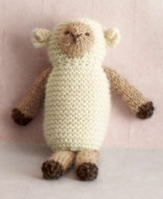 Sweet little lamb - nice tuck-in with a baby gift.  Free pattern from Lion Brand