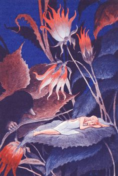 Thumbelina by Rudolf Koivu Hans Christian, Children's Book Illustration, Graphic Design Illustration, Unicorn And Fairies, Classic Fairy Tales, Inspiration Art, Fairytale Art, Fairy Land, Art Nouveau