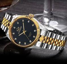CHENXI Luxury Men Watch Silver Between the Gold Rhinestone Lover's Wristwatch Nail Strap Classic Retro Man Women Business Watch //Price: $19.98 & FREE Shipping //