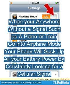 Smart Phones - Preserve Battery Life