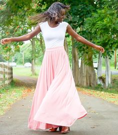 Tonight's mood, courtesy of the beautiful @desyre2inspyre, twirling through life in our #organic Madison skirt!