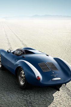 Beautiful Blue Porsche 550 Spyder