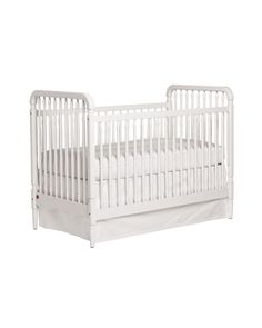 Staying true to all the pretty little details of the heirloom that inspired it, our white spindle crib is beautifully crafted of hardwood and finished entirely by hand using only nontoxic, lead–free stain and paint. It includes an easy–to–use conversion kit that lets you turn the crib to a toddler bed. The perfect solution for your growing child. Designed to coordinate with our Liberty Changing Table.