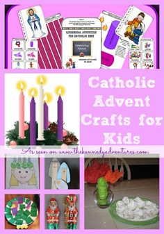Catholic Advent Crafts for Kids - Some great projects inside for even those of us that aren't catholic but still want to teach our kids about advent.