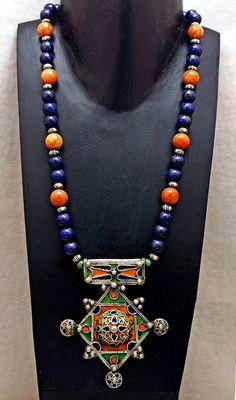 RESERVED FOR STEPHANIE Vintage Berber Enamel by SilkRoadJewelry