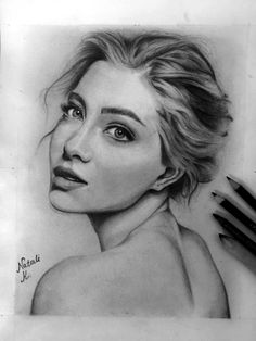 Model love black and white art portrait woman beauty drawing pencil look