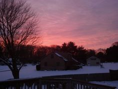 The pink and purple sky of a usual Grunsday morning . Purple Sky, The Eighth Day, Next Door, Fantasy Series, Sunset, House Styles, Pink, Outdoor, Outdoors