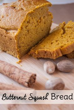 If you like pumpkin bread, you& love this butternut squash bread recipe too! It& similar to other traditional quick bread recipes with a bit of a twist. Butternut Squash Recipies, Butternut Squash Bread, Zucchini Bread, Dessert Bread, Dessert Recipes, Desserts, Summer Squash Bread, Healthy Pumpkin Bread, Quick Bread Recipes
