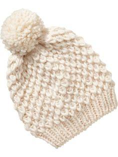 Women's Sweater-Knit  Pom-Pom Hats Product Image