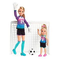 Barbie Team Stacie Doll & Chelsea Doll Soccer Playset – World Soccer News Barbie Y Ken, Barbie Kids, Barbie Doll Set, Barbie Sisters, Doll Clothes Barbie, Barbie Dress, Barbie Van, Barbie Stuff, Barbie Fashionista