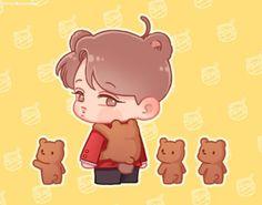 Bts And Exo, Exo Kai, Exo Cartoon, Exo Fanart, Kai Arts, Exo Korean, Bts Chibi, Kaisoo, Kpop