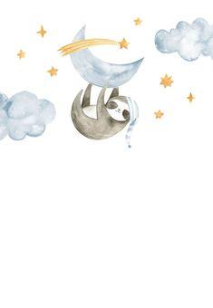 Sleeping Sloth and Panda - Baby Shower Invitation Template (Free) Illustration Inspiration, Baby Illustration, Baby Shower Cards, Baby Cards, Baby Shower Invitation Templates, Shower Invitations, Panda Baby Showers, Baby Shower Invitaciones, Baby Mobile