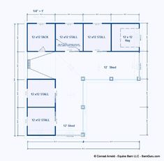 Horse Barn Plans for sale. Large selection of Horse Barn Plans For Sale. Horse Stalls, Horse Barns, Barn Stalls, Barn Layout, Horse Barn Designs, Horse Barn Plans, Barn Shop, Farm Plans, Barn Animals