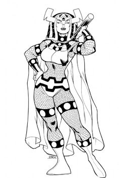 Big Barda by Ed McGuinness