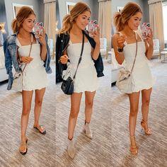 Summer Wear, Blue Dresses, White Dress, Sky, How To Wear, Shopping, Fashion, Heaven, Moda