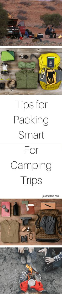 Tips for Packing Smart for Camping Trips is a great way to get your packing list for this spring and summer sorted out! It's all about packing essentials! Camping Hacks, Camping Packing, Camping Checklist, Camping Essentials, Camping And Hiking, Camping Meals, Packing Lists, Camping Mit Baby, Camping With Kids