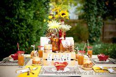 Apple-themed Fall Party.  So cute.