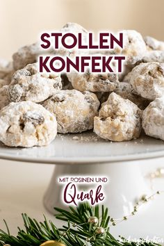 Stollen confectionery with curd cheese. Xmas Food, Christmas Baking, Cake Story, Small Desserts, New Cake, Confectionery, No Bake Cake, Baking Recipes, Good Food