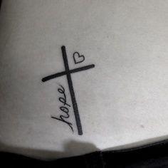 hope love tattoos 26 Faith Hope Love Tattoo Designs-Ideas and Symbols Trendy Tattoos, Mini Tattoos, Small Tattoos, Cool Tattoos, Elegant Tattoos, Small Cross Tattoos, Cross Tattoos For Women, Awesome Tattoos, Tatoo Art