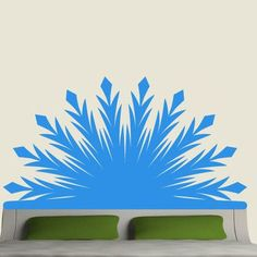 EyvalDecal Radiant Headboard Vinyl Wall Decal Color: Lime Green, Size: Twin